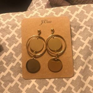 J.Crew dangly gold fashion earrings